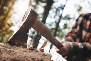 wood splitting axe