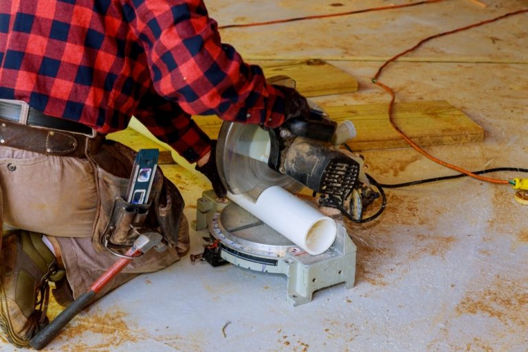 how to cut pvc pipe with a miter saw
